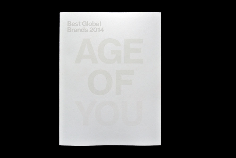 Best Global Brands 2014, Age Of You, Matthijs Matt van Leeuwen, Forest Young, Joseph Han, Book Cover, Interbrand New York