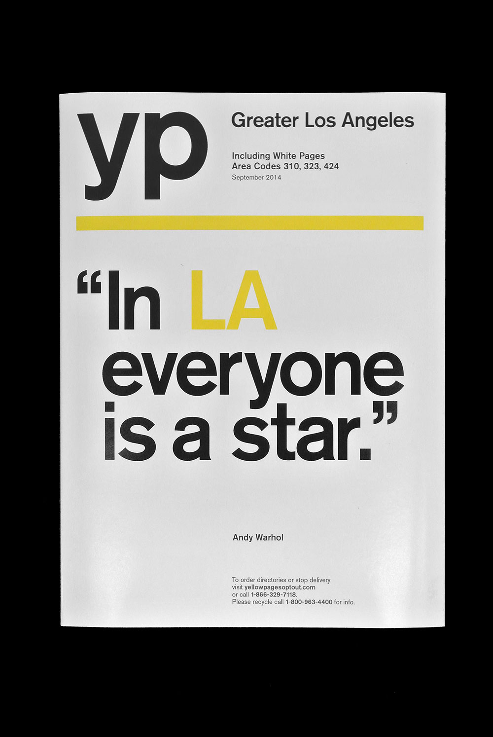 yellow pages YP cover Los Angeles Andy Warhol Matt Matthijs van Leeuwen Interbrand