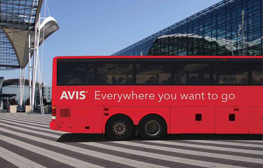 Avis Visual Identity Matthijs Matt van Leeuwen, Mike Knaggs, Interbrand New York, Bus