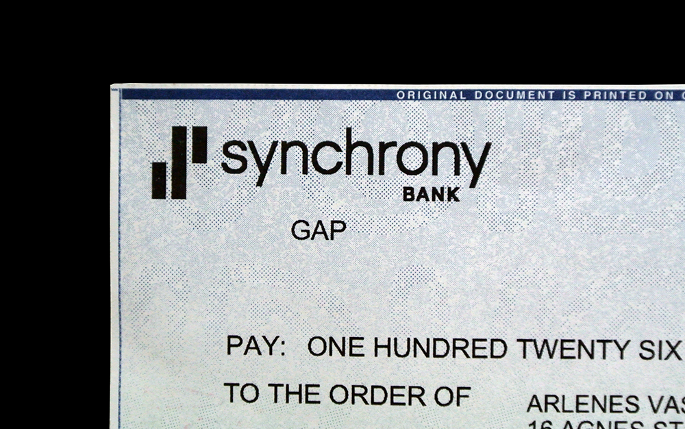 Matthijs Matt van Leeuwen, Jessica Staley, Craig Stout, Synchrony Financial Logo, Interbrand New York, Check