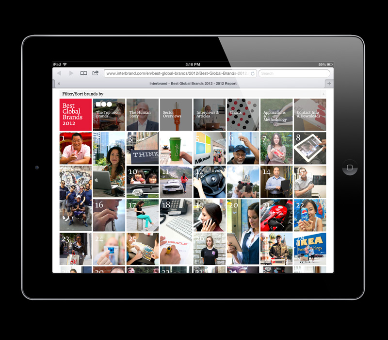 Best Global Brands 2012 Website matthijs matt van leeuwen forest young interbrand New York