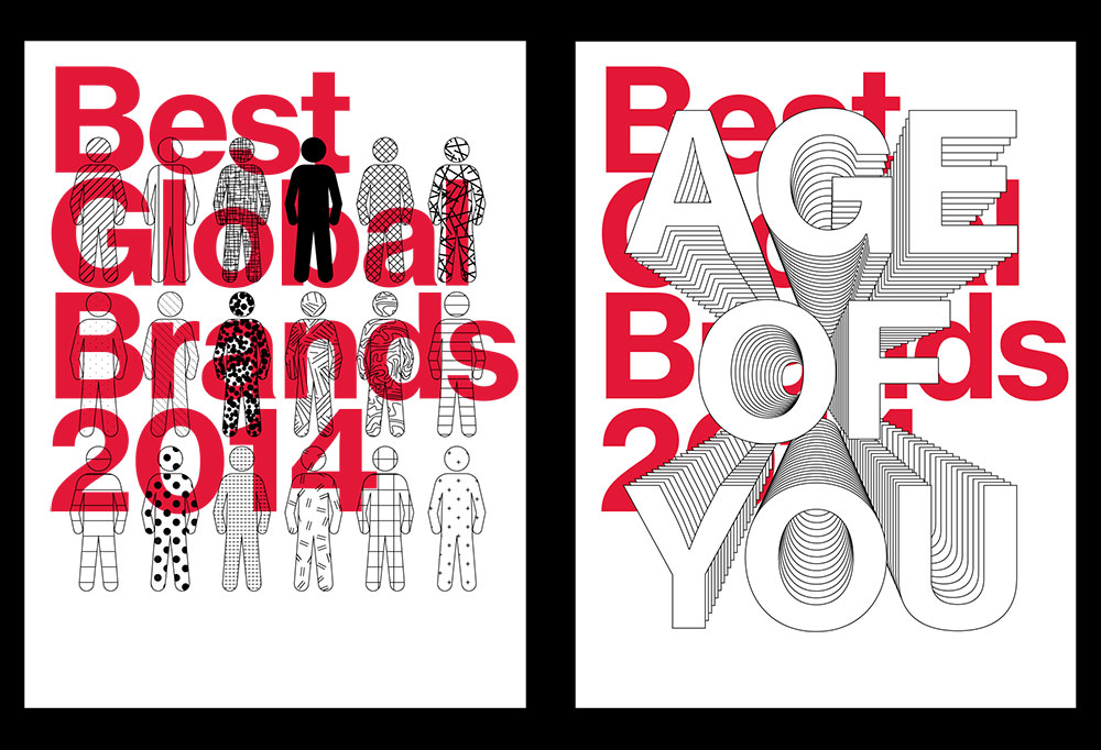 Best Global Brands 2014, Age Of You, Matthijs Matt van Leeuwen, Forest Young, Joseph Han, Posters, Interbrand New York