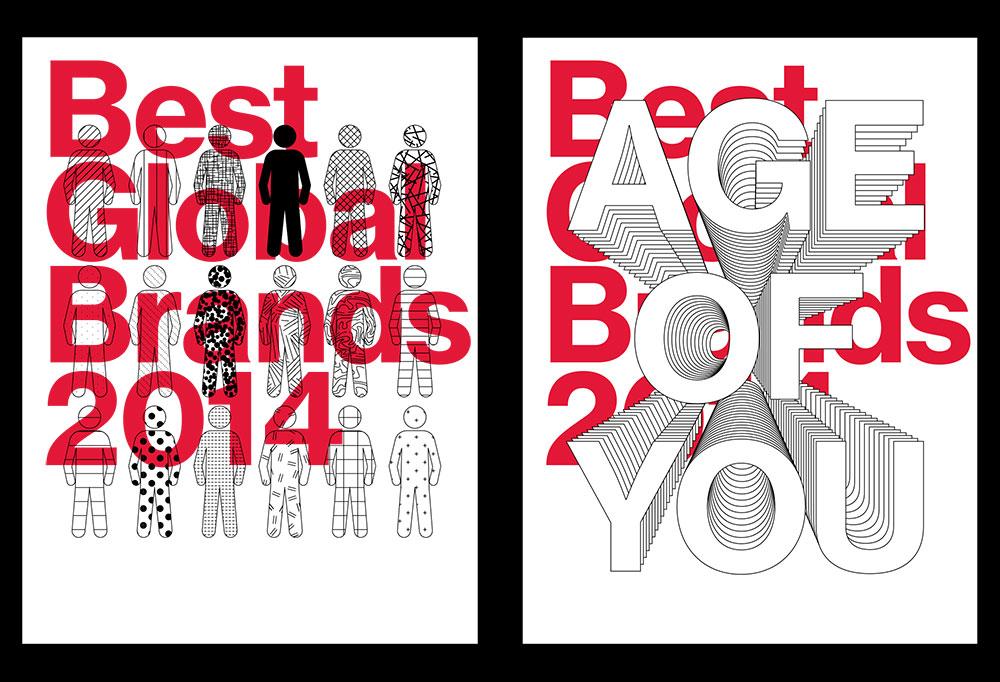Best Global Brands 2014, Age Of You, Matthijs Matt van Leeuwen, Forest Young, Joseph Han, Posters, Interbrand New York