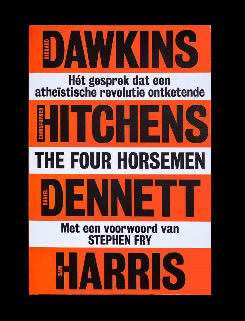 Matthijs Matt van Leeuwen, Richard Dawkins, Christopher Hitchens, Daniel Dennett, Sam Harris, The Four Horsemen, Maven Publishing, Book Cover Design, Amsterdam, New York