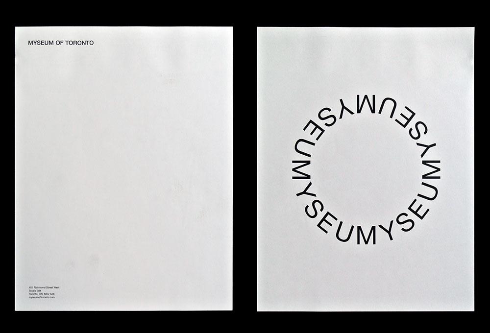 Matthijs Matt van Leeuwen, Kozue Yamada, Myseum of Toronto, Interbrand, Logo, Letterhead