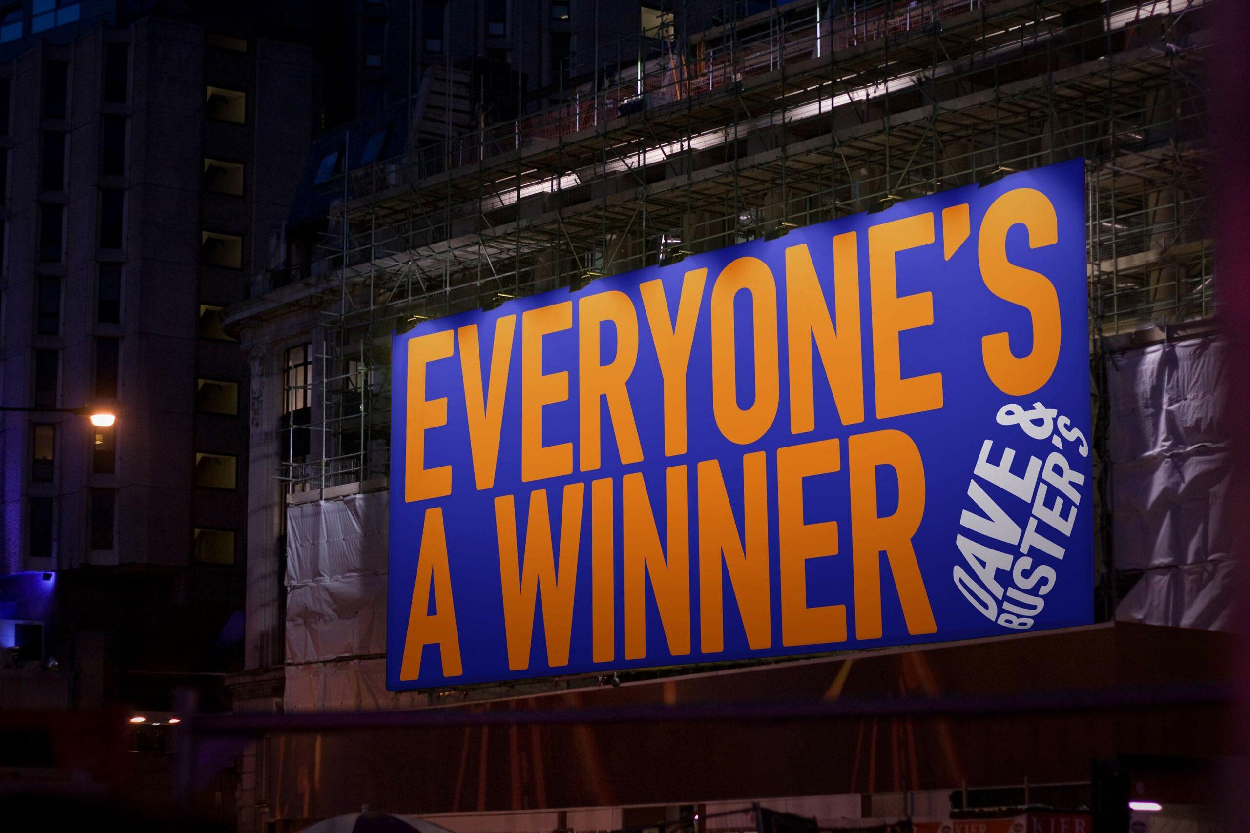 Matt van Leeuwen, Dave & Buster's, Mother Design, Logo, Identity, Matthijs van Leeuwen, Everyone's A Winner