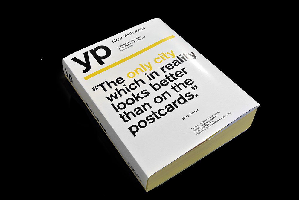 yellow pages YP cover New York Milos Forman Matt Matthijs van Leeuwen Interbrand